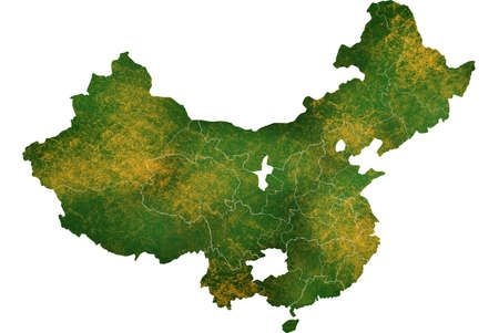 China map detailed visualization for country place,travel,texture and background Фото со стока