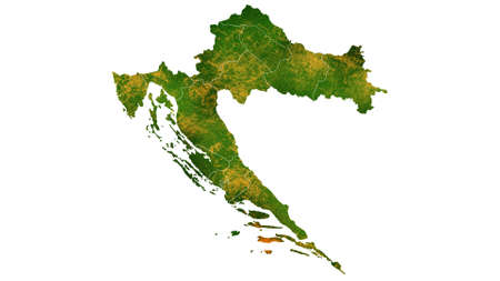 Croatia map detailed visualization for country place,travel,texture and background Фото со стока