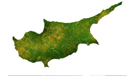 Cyprus map detailed visualization for country place,travel,texture and background Фото со стока