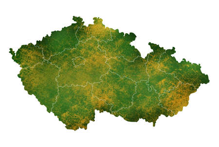 Czech Republic   map detailed visualization for country place,travel,texture and background