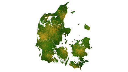 Denmark map detailed visualization for country place,travel,texture and background