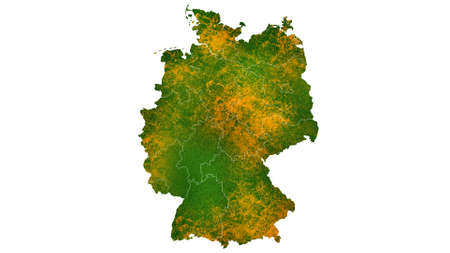 Germany  map detailed visualization for country place,travel,texture and background