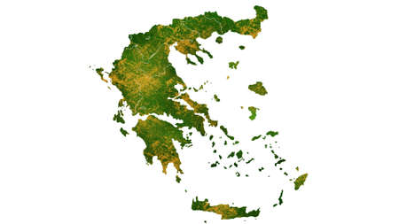 Greece  map detailed visualization for country place,travel,texture and background Фото со стока