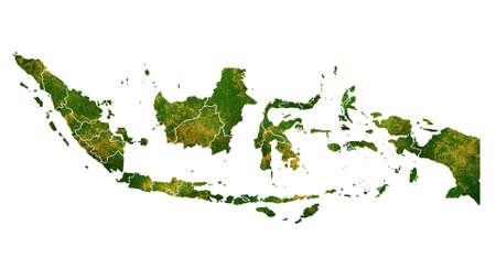 インドネシアの国の場所、旅行、テクスチャや背景に詳細な可視化をマップします。 写真素材