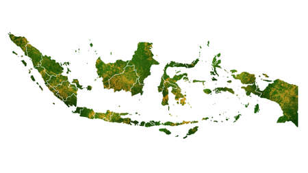 Indonesia map detailed visualization for country place,travel,texture and background