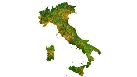 Italy map detailed visualization for country place,travel,texture and background