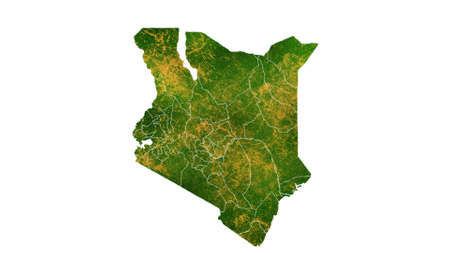 Kenya map detailed visualization for country place,travel,texture and background