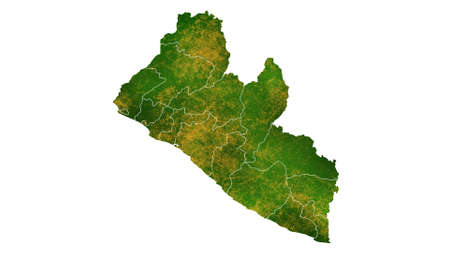 Liberia map detailed visualization for country place,travel,texture and background