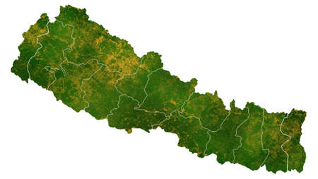 Nepal map detailed visualization for country place,travel,texture and background