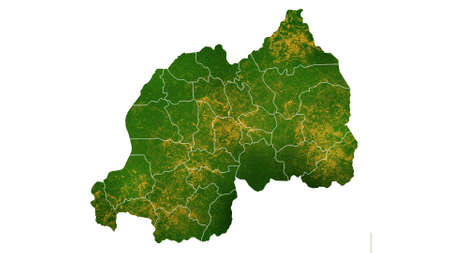 Rwanda map detailed visualization for country place,travel,texture and background