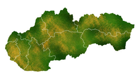 Slovakia map detailed visualization for country place,travel,texture and background Stock Photo
