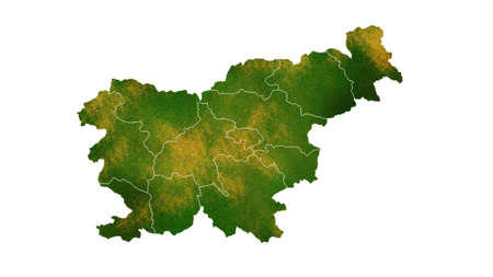 Slovenia map detailed visualization of country for place,travel,texture and background