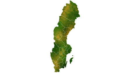 Sweden detailed map visualization for place,travel,texture and background