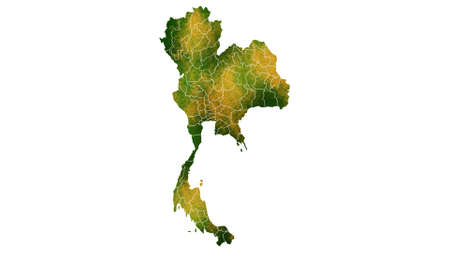 Thailand detailed map visualization for place,travel,texture and background Фото со стока