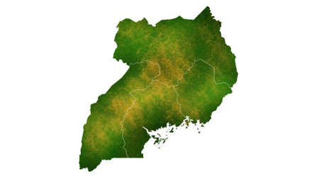 Uganda detailed map visualization for place,travel,texture and background Фото со стока