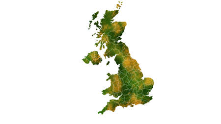 United Kingdom detailed map visualization for place,travel,texture and background Фото со стока