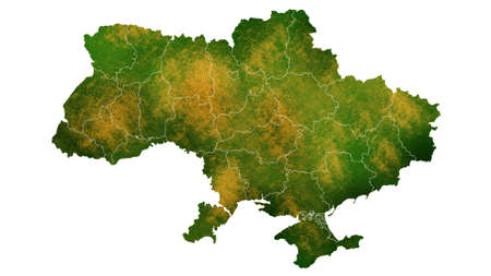 Ukraine detailed map visualization for place,travel,texture and background