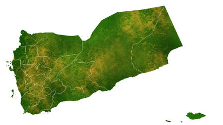 Yemen detailed map visualization for place,travel,texture and background