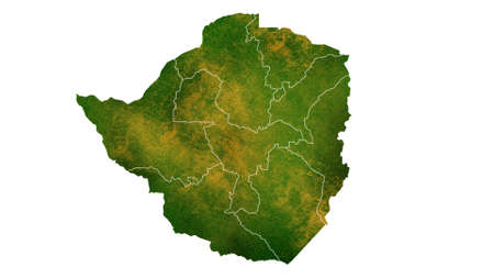 Zimbabwe detailed map visualization for place,travel,texture and background