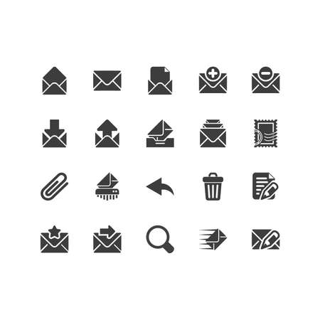Retina Mail Icon Set Stock Vector - 16598071