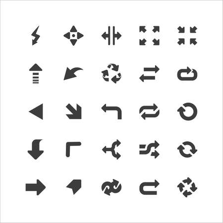 Retina Arrows Icons Set Stock Vector - 16598065