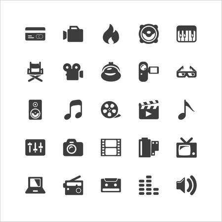 entertainment: Retina Media Icon Set