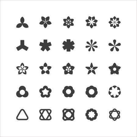 Geometric Symbol Icon Set Stock Vector - 16598073