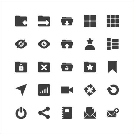 Retina Social Icon Set Stock Vector - 16598064