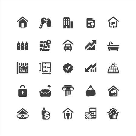 commercial real estate: Retina display ready icons set