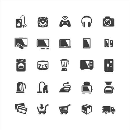 Retina display ready icons set Stock Vector - 18224910