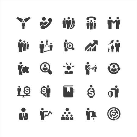 Retina Business Icons Set Vector