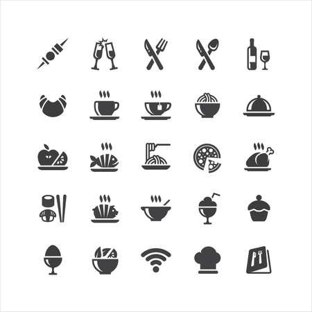 Retina Restaurant Icons Set