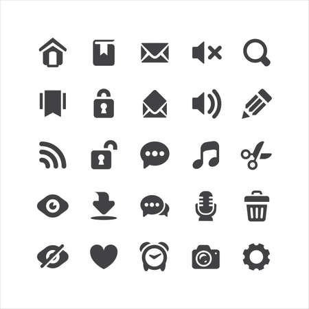 Retina Everyday Icons Set Vector
