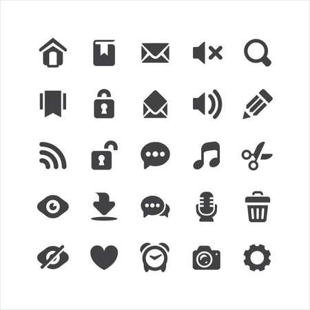 mindennapi: Retina Mindennapi ikonok, állhatatos Illusztráció