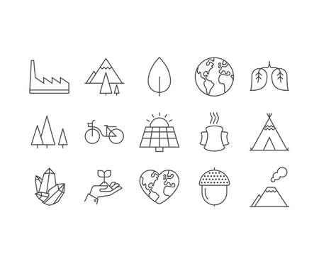Line retina, web ready Icons Set Illustration