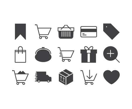 E-commerce outline icons set Illustration