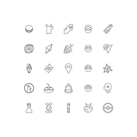 ios: Pocket Monster Icons Pack Illustration