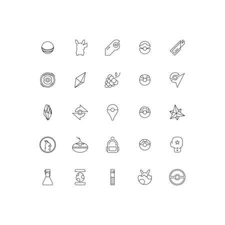 Pocket Monster Icons Pack Illustration