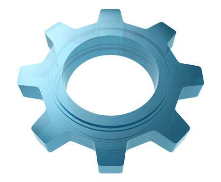 cogwheel: Glass Cogwheel Stock Photo