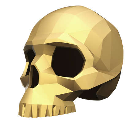 faceted: Faceted Skull Stock Photo