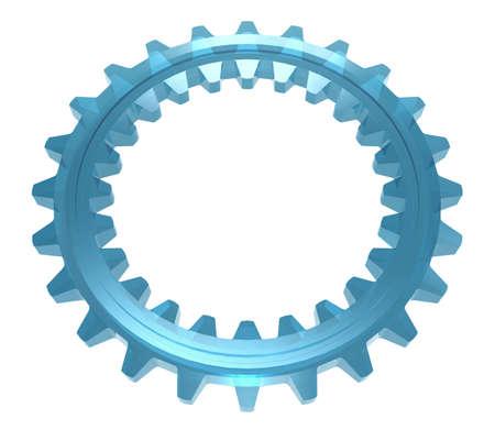 cogwheel: Two-sided Glass Cogwheel Stock Photo