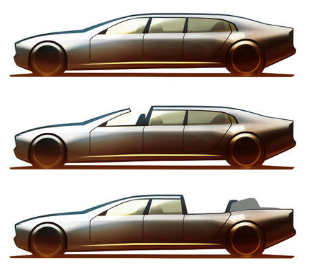 brougham: Car Body Limousine, Brougham and Landualet Stock Photo