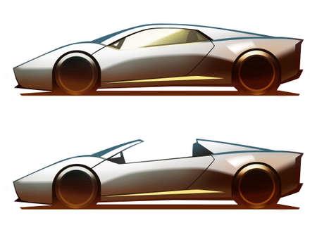 supercar: Car Body Supercar Stock Photo
