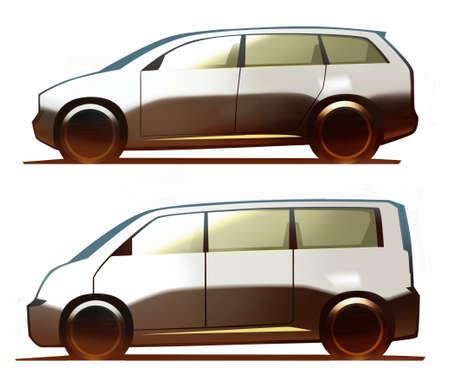 minivan: Car Body Minivan and Micro Bus