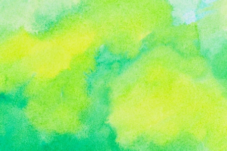 pale yellow: Pale yellow and green colored ink wash background.