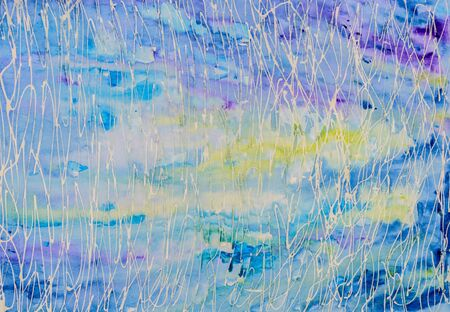 purples: Original watercolour painting. Abstract background in blues and purples.