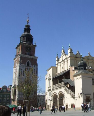 Town Hall Tower and Cloth Hall, Market Square, Krakow Stock Photo - 899325