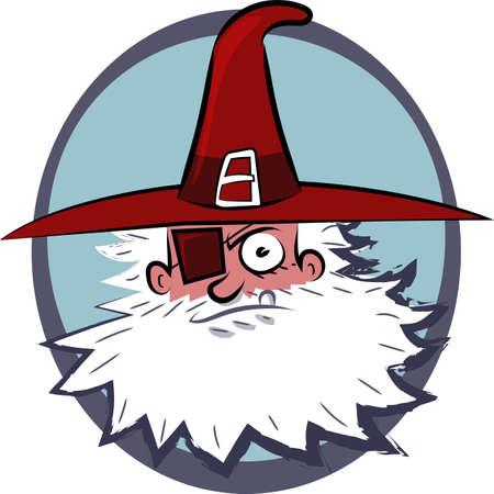 pirate head cartoon style vector illustration