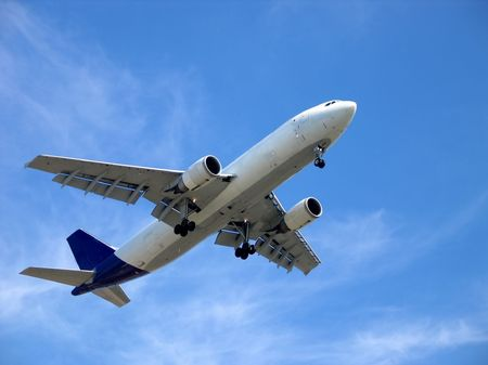 airplane blue sky Stock Photo - 330541