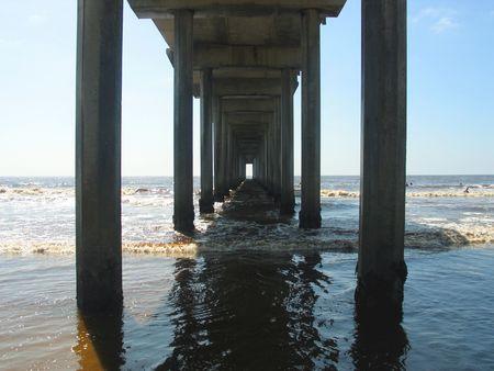 underneath a pier photo